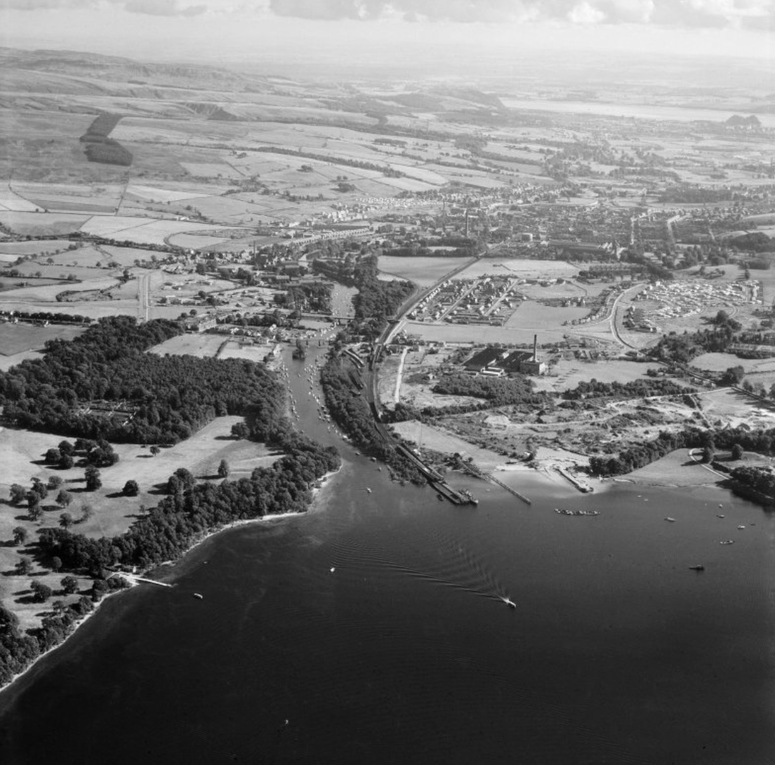 Aerial view of Balloch in 1949
