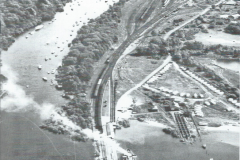 Aerial view of West Riverside and the Railway